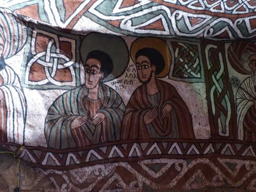 l'église crypte de Enda Aboun Yemata (Guh); les peintures intérieures;