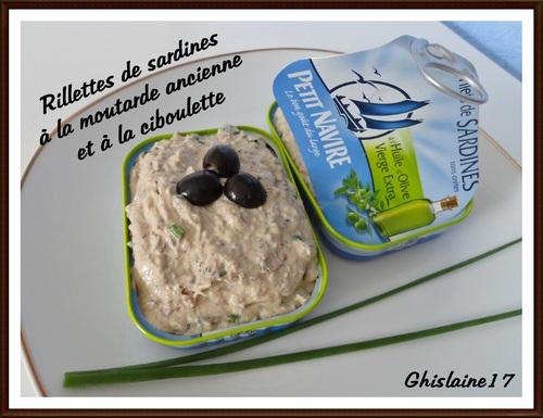 Rillettes de sardine à la moutarde à l'ancienne et à la ciboulette