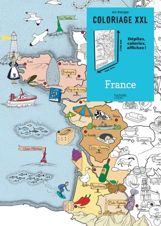 Coloriage XXL cartes de France et du monde