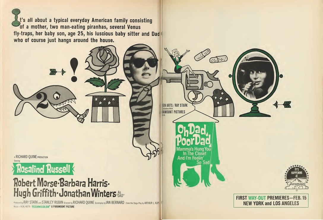 OH DAD POOR DAD MAMMA'S HUNG YOU IN THE CLOSET box office USA 1967