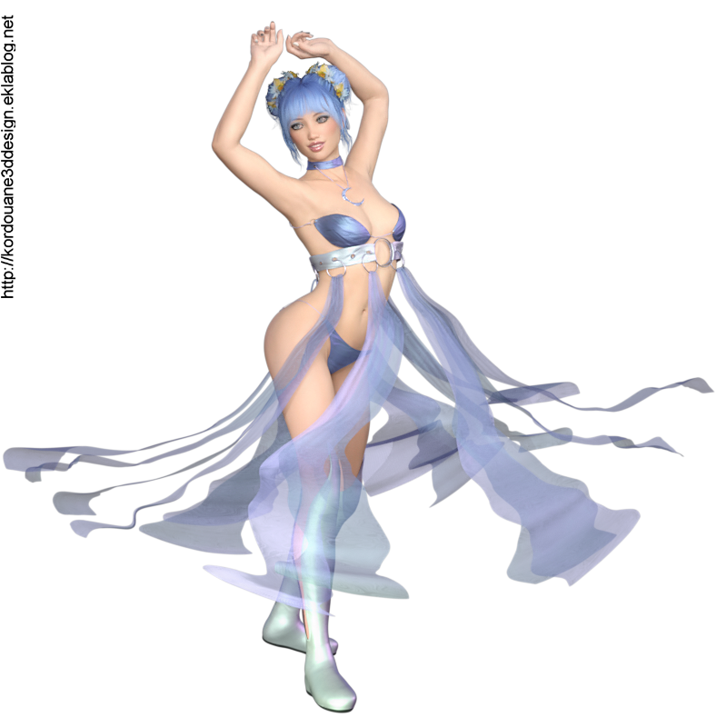 Tube d'elfe qui danse (render-image)