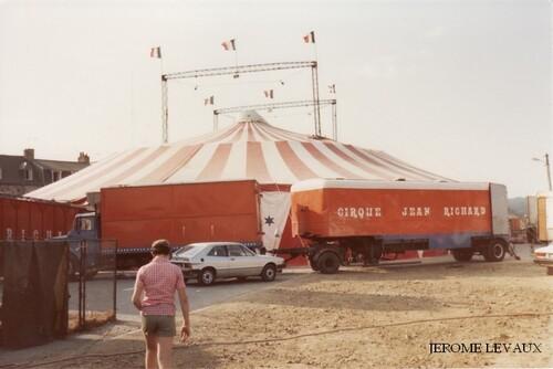 le cirque Jean Richard à Tréguier en aout 1980 (2) - (photos Jérôme Levaux)