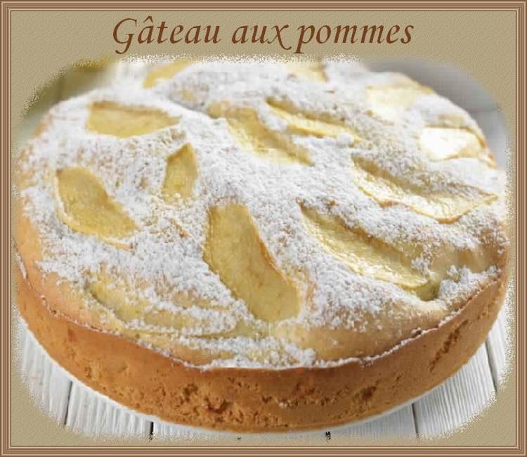 Recette de cuisine : Gâteau aux pommes