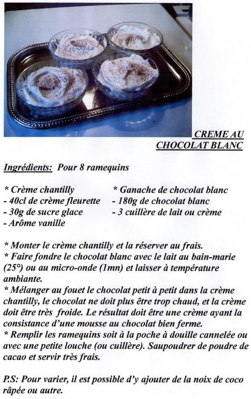 CREME AU CHOCOLAT BLANC