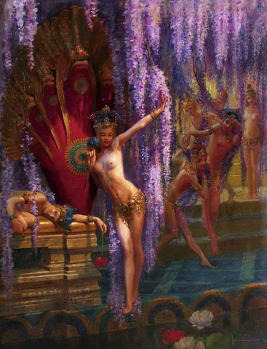 Gaston Bussière, Danseuses exotiques