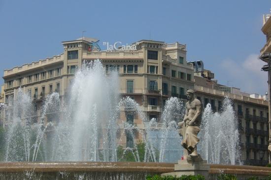 Plaça Cataluna-banque Caixa