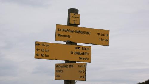 la Chapelle Marcousse.Rando du 25.09.2017...18 kms