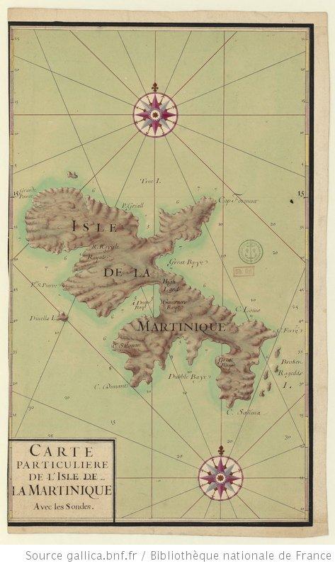 auteur inconnu, Carte particuliere de l'Isle de la Martinique Avec les Sondes, P 156 D2