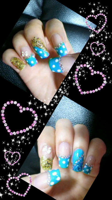 Nail Art - Tanaka Reina inspired nails