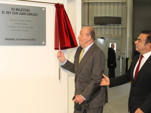 Juan Carlos à l'usine
