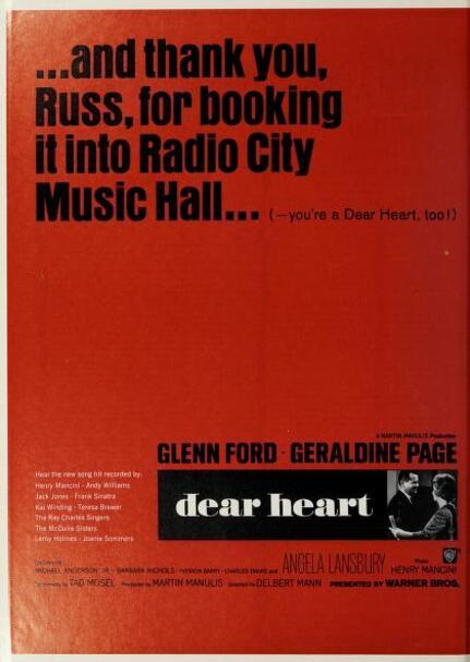BOX OFFICE USA DU 29 NOVEMBRE 1964 AU 4 DECEMBRE 1964