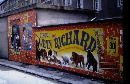 le cirque Jean Richard à Mende en 1971 ( arcives jean Claude Murat)