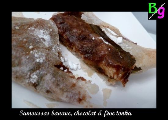 samoussas banane chocolat fève tonka