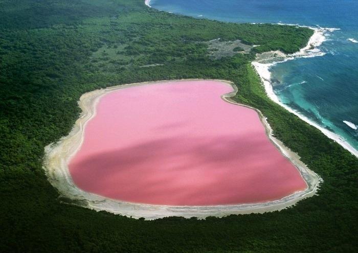 Lac Hillier (lac rose), Australie