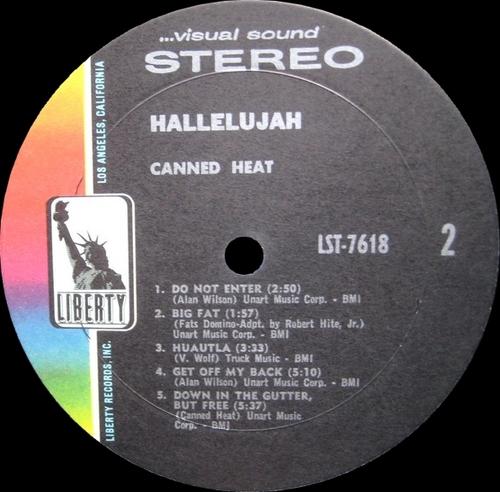 "Canned Heat : Album "" Hallelujah "" Liberty Records LST-7618 [ US ]"