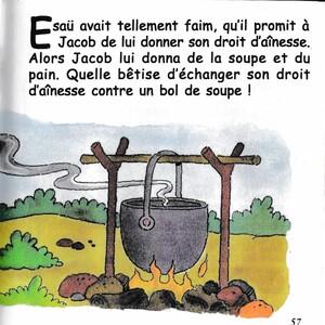 Esaü vend son droit d'ainesse à Jacob