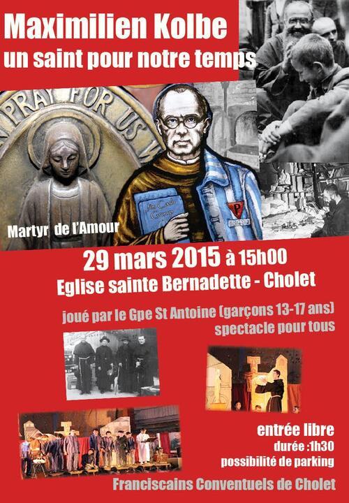 Spectacle Maximilien Kolbe à Cholet