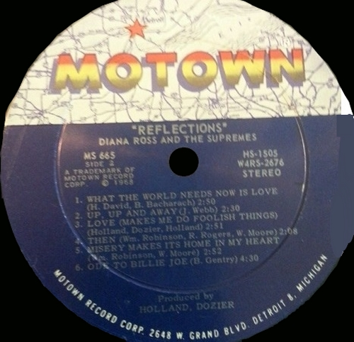 """Diana Ross & The Supremes : Album """" Reflections """" Motown Records MS 655 [ US ]"""