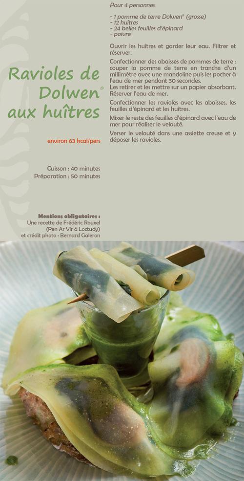 Ravioles de Dolwen aux huîtres