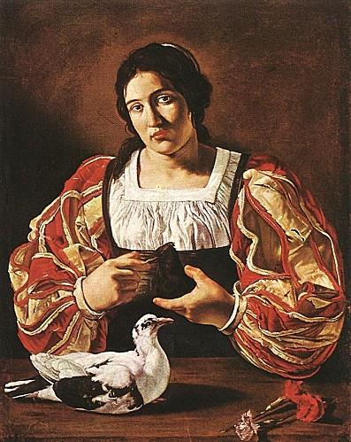 Le-Caravage-Femme-à-la-colombe-1610
