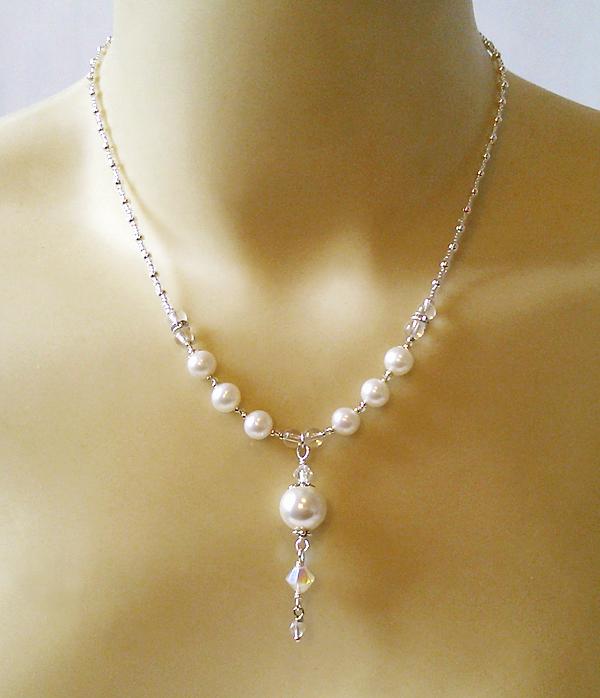 Collier pendentif Perle de Coquillage et perles de Culture blanc ...