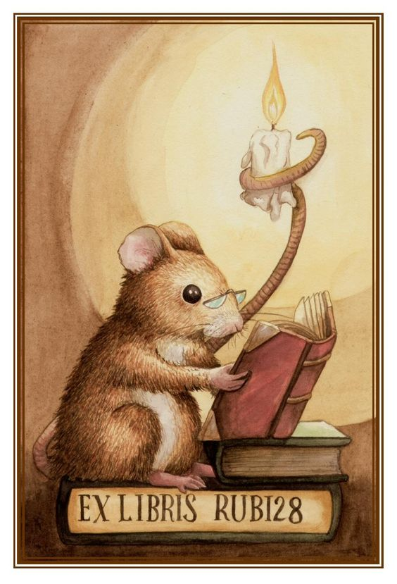 Bookplate by Shona M MacDonald (*pebblepixie on deviantART). a mouse for the Insightful Mouse... =):