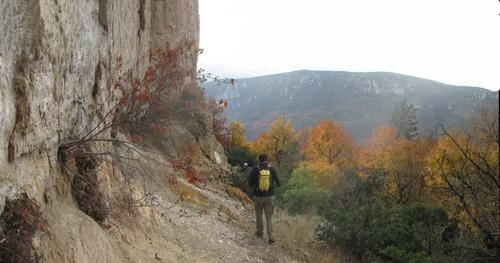falaises d'automnes en gorges du Tarn