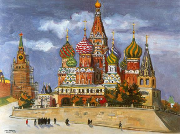 St Basile à Moscou