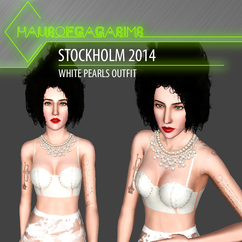 STOCKHOLM 2014 WHITE PEARLS OUTFIT