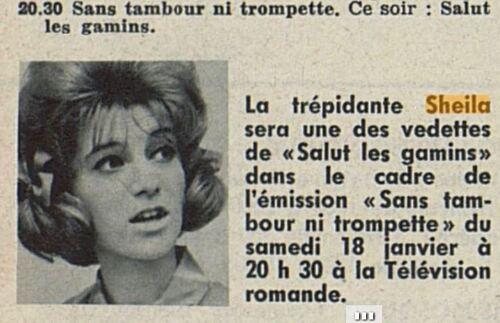 18 janvier 1964 / SANS TAMBOUR NI TROMPETTE (TSR) - INTROUVABLE