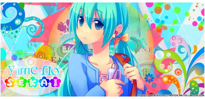 Bannière colorée Miku Hatsune