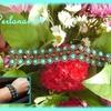 Bracelet turquoise chocolat