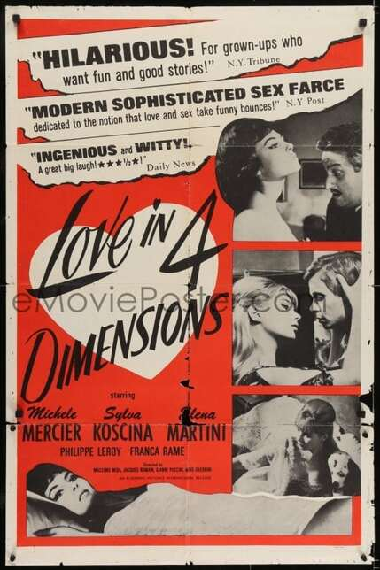 LOVE IN FOUR DIMENSIONS BOX OFFICE USA 1965