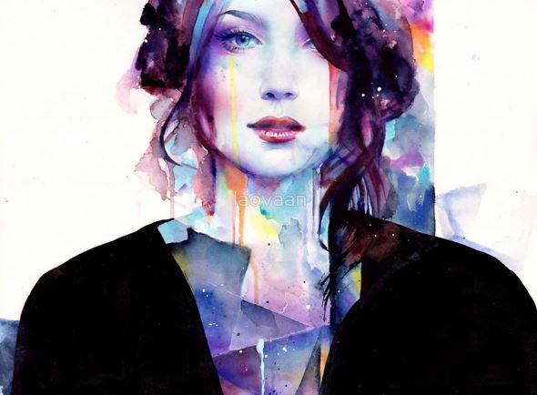 Dessin et peinture - vidéo 1622 : La force d'un portrait féminin à l'aquarelle.
