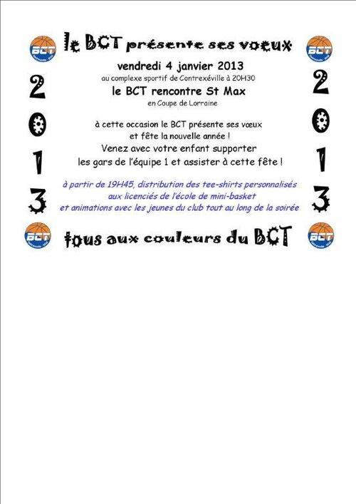 Le BCT présente ses voeux
