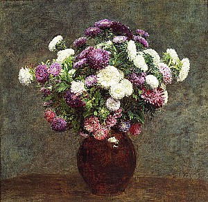 Henri Fantin-Latour - Asters in a Vase