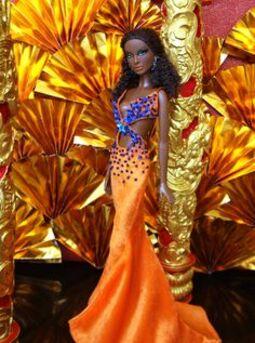 """Barbie en modèle """"Curaçao""""  : Couleurs Caraïbes"""