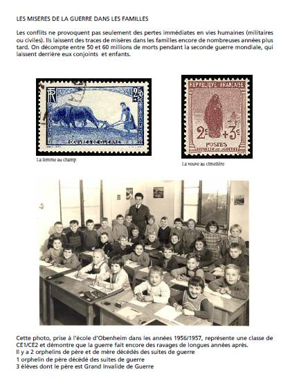 * Cérémonie du 16 avril 2015 (suite) : les enfants d'Obenheim à Strasbourg et à Obenheim