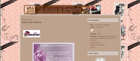 Blog Bernadette 03 04 2011