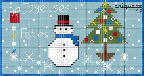 Broderie grille gratuite- Joyeuses Fêtes 2014