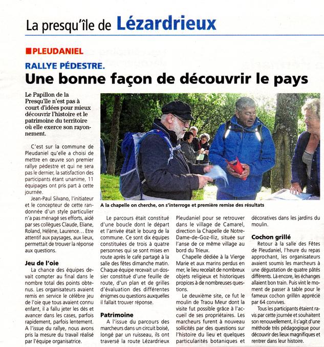 Le Rallye de Pleudaniel dans la Presse d'Armor