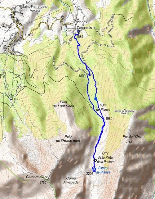 La vallée et l'étang de Planès