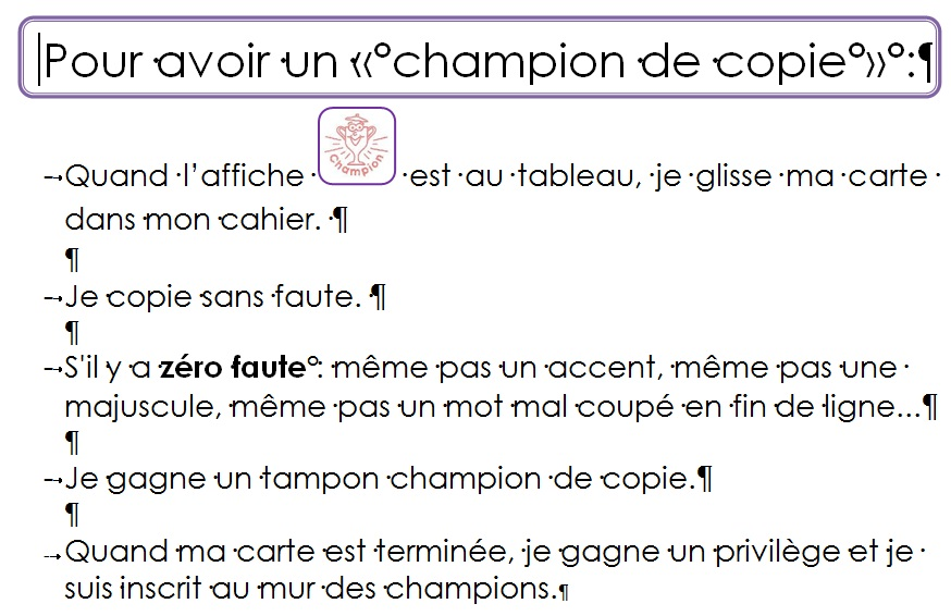 Champions de copie