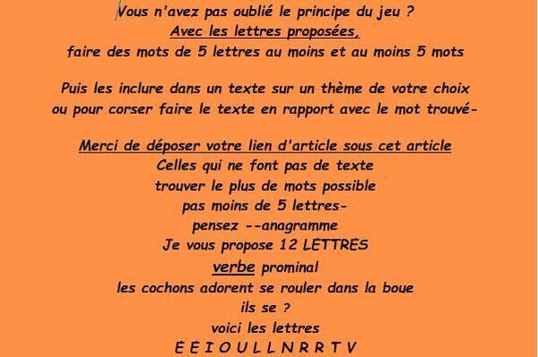 Jeu Lettres n° 139