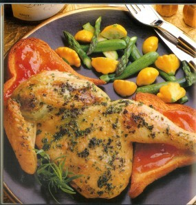 43 poulet grillé farci aux herbes