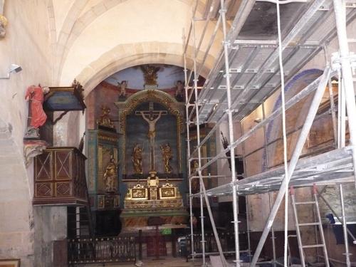 Travaux de restauration à l'église de Thédirac