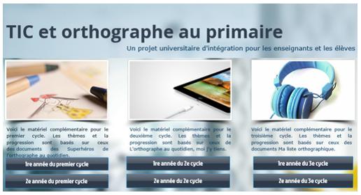 Une nouveauté sur le site Les Superhéros de l'orthographe au quotidien (1er cycle)
