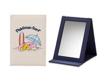 Miroir de poche Pokemon surf pikachu et ramoloss endormis sur la plage