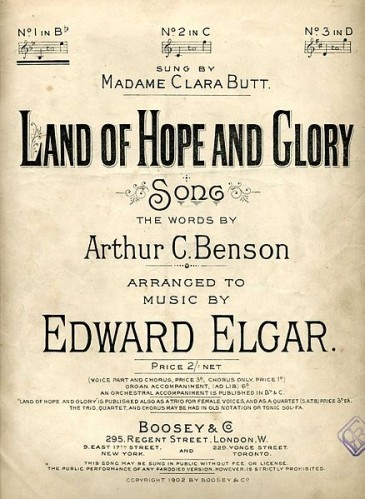 438px-Land of Hope and Glory by Elgar song cover 1902