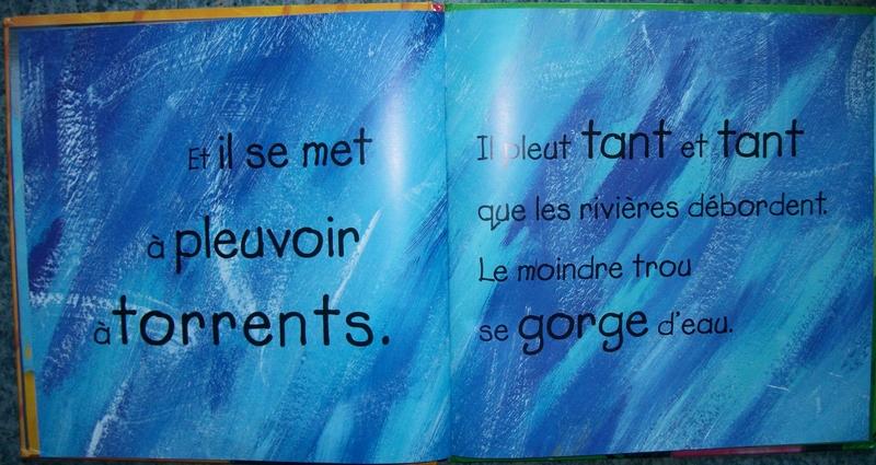 """Peindre la pluie en relation avec l'album """"Voilà la pluie"""""""